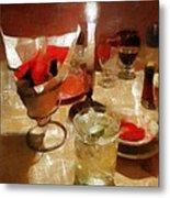 Drinks Before Dinner Metal Print