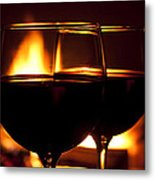 Drinks By The Fire Metal Print