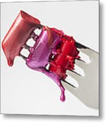 Dripping Lipstick Metal Print