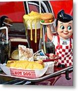 Drive-in Food Classic Metal Print