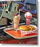 Drive-in Memories Metal Print