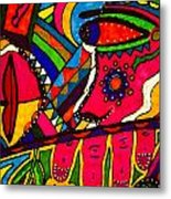 Driven To Abstraction - Parts And Pieces Metal Print
