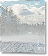Driving In The Snow Metal Print