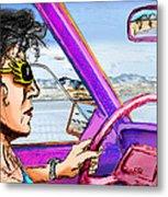 Driving Through Arizona Metal Print