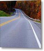 Driving Through Fall Metal Print