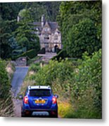 Driving To Manor House Metal Print
