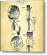 Droop Hand  Drum Patent Drawing From 1892 - Vintage Metal Print