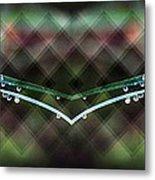 Droplets Abstract Metal Print