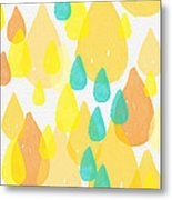 Drops Of Sunshine- Abstract Painting Metal Print by Linda Woods