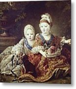 Drouais, Fran�ois Hubert 1727-1775. The Metal Print