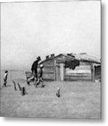 Drought Dust Storm, 1936 Metal Print
