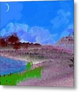 Drought. Morning. Wild Side Of The Lake Metal Print