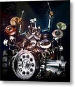 Drum Machine - The Band's Engine Metal Print by Alessandro Della Pietra