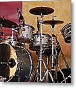 Drum Set Metal Print
