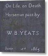 Wb Yeats -one Of Irelands  Greatest Poets Metal Print