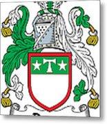 Drury Coat Of Arms Irish Metal Print