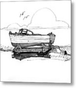 Dry Dock In Ocracoke Nc 1970s Metal Print