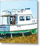 Dry Docked Cabin Cruiser Metal Print