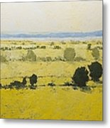 Dry Grass Metal Print