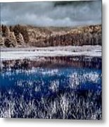 Dry Lagoon Blues Metal Print