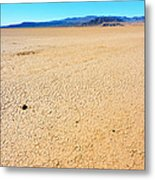 Dry Soil In Death Valley - Color Metal Print