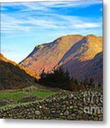 Dry Stone Walls In Patterdale In The Lake District Metal Print