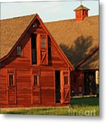Dual Barns-3811 Metal Print