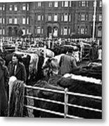 Dublin Cattle Market 1959 Metal Print