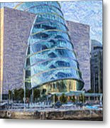 Dublin Convention Centre Republic Of Ireland Metal Print