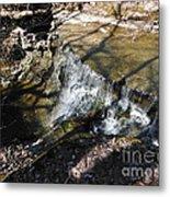 Dublin Ohio Waterfall In Spring 1 Metal Print