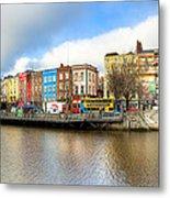 Dublin River Liffey Panorama Metal Print by Mark E Tisdale