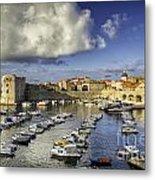 Dubrovnik Harbor Metal Print