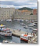 Dubrovnik Old Harbour Metal Print