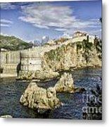 Dubrovnik Walled City Metal Print