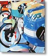 Ducati Line Metal Print by Guenevere Schwien