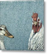 Duck Chicken Metal Print
