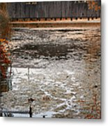 Ducking Under The Bridge Metal Print