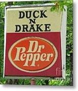 Duckter Pepper Metal Print