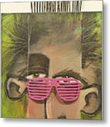 Dude With Pink Sunglasses Metal Print
