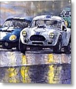 Duel Ac Cobra And Shelby Daytona Coupe 1965 Metal Print