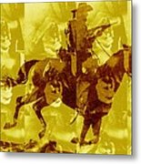 Duel In The Saddle 1 Metal Print