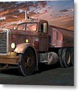 Duel Truck With Trailer Metal Print by Stuart Swartz
