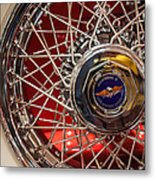 Duesenberg Wheel Metal Print