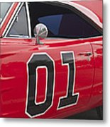 Dukes Of Hazard General Lee Metal Print