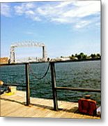 Duluth Docks Metal Print by Danielle  Broussard