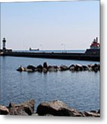 Duluth Harbor Lighthouses  Metal Print