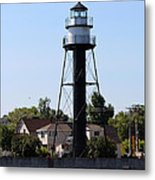 Duluth Harbor South Breakwater Inner Lighthouse Metal Print