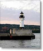 Duluth Mn Lighthouse Skyline Metal Print