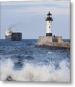 Duluth N Pierhead And Ship 1 Metal Print
