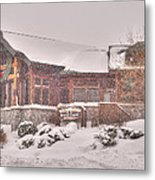 Duluth Winter Blackwoods Grill Metal Print